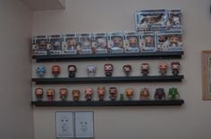 IKEA Ribba ledges for a funko pop vinyl figure collection display
