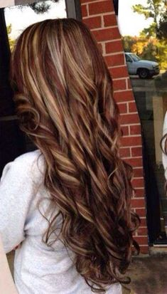 Dark Brown with Caramel Highlights Hairstyles