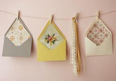 vintage wallpaper envelopes