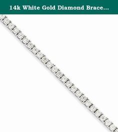 14k White Gold Diamond Bracelet, Best Quality Free Gift Box. This adds a sense of charm to your favorite collection.14k White Gold Cluster Setting Diamond Bracelet. Model No.: Y10870A. 14k White Gold. Product Type: Jewelry. Jewelry Type: Bracelets. Material: Primary: Gold. Material: Primary - Color: White. Material: Primary - Purity: 14K. Chain Length: 7 in. Chain Width: 4 mm. Stone Type1: Diamond. Stone Weight1: 2.000 ct. Stone Clarity1: I2 (A). Stone Creation Method1: Natural. Got...