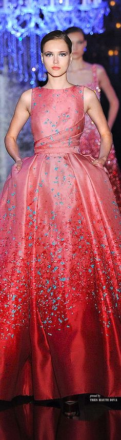 Elie Saab Haute Couture Fall 2014 - I'd like this with a slim skirt by BGM Inspiration
