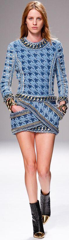 Balmain, SS 2014, PFW, RTW Repinned by www.fashion.net