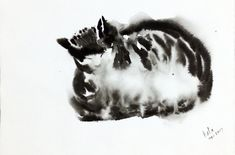 "Buy Cat in Ink -Cat Meditation 10""x 14"" Cat snooze, Painting by Art by Aashaa on Artfinder. Discover thousands of other original paintings, prints, sculptures and photography from independent artists. Lovers Art, Cat Lovers, Small Wall Decor, Original Art, Original Paintings, Watercolor Cat, Buy A Cat, Reference Images, I Love Cats"