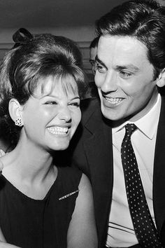 Claudia Cardinale & Alain Delon, Rome, 1962......Uploaded By www.1stand2ndtimearound.etsy.com
