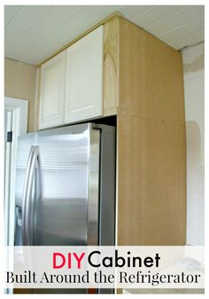 How to build a cabinet around your refrigerator to give it a custom, built in look. www.chatfieldcourt.com