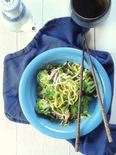 Zucchini noodles and veggies are stir fried in a savory and slightly sweet hoisin sauce to make this light and healthy vegan lo mein.