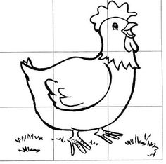 make your own chicken jigsaw Animal Activities, Activities For Kids, Animals For Kids, Farm Animals, Farm Kids, Animal Puzzle, Picture Puzzles, Beginning Of The School Year, Farm Theme