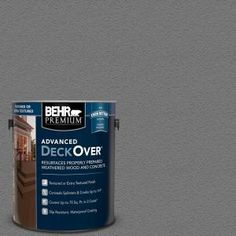Give old, weathered wood a uniform look by applying this BEHR Premium DeckOver Harbor Gray Textured Solid Color Exterior Wood and Concrete Coating. Brass Texture, Wood Texture, Waterproof Paint, Concrete Coatings, Concrete Wood, Acrylic Resin, Weathered Wood, Exterior Paint, Gray Exterior