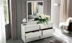 Under bed lighting and storage options. Contemporary Bedroom, Modern Bedroom, Contemporary Furniture, Under Bed Lighting, Fantasy Rooms, Dresser With Mirror, Italian Furniture, Comfort Zone, Floating Nightstand