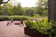 nelson byrd woltz landscape architects / hudson highland cottage, new york - Home And Garden Landscape Architecture, Landscape Design, Garden Design, Contemporary Landscape, Architecture Plan, Gravel Garden, Outdoor Fire, Outdoor Living, Outdoor Decor