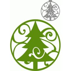 Silhouette Design Store - View Design #70499: circle flourish tree