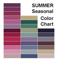 Summer women look best in soft, cool colors that are not sharp or harsh. She should avoid orange, black, stark white, and very bright, clear colors.