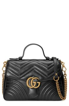 3fe2a7906c Gucci Small GG Marmont 2.0 Matelassé Leather Top Handle Bag available at   Nordstrom Small Shoulder