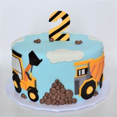 meri meri big rig themed birthday cake