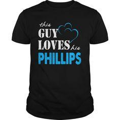 TeeForPhillips  Guy Loves Phillips  Loves Phillips Name Shirt