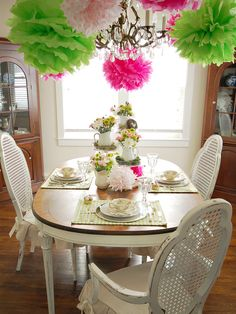 Banquet Table Decorations | Colorful Spring Table Setting : Decorating : Home & Garden Television