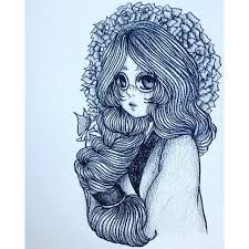 Image result for some nice sketches of girls with long beautiful hair