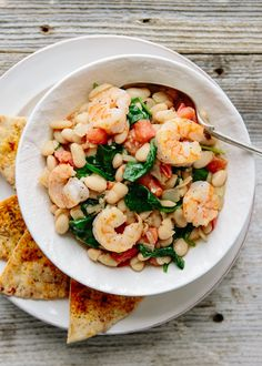 Recipe: Shrimp with White Beans, Spinach & Tomatoes — Weeknight Dinner Recipes from The Kitchn