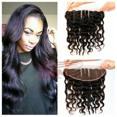 7A Brazilian virgin hair Ear To Ear full Lace Frontal Closure in body wave Human Hair 13x4 Bleached Knots Swiss Lace 2# Color