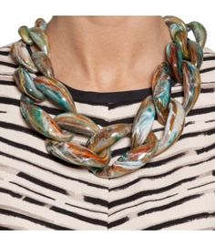 Diana Broussard Marbled Teal Nate Necklace