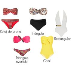 """""""bikinis para cada tipo de cuerpo"""" by mafer-cisneros on Polyvore"""