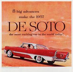 DeSoto Fireflite Sportsman 1957 Desert - www.MadMenArt.com | Vintage Cars…