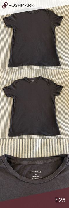 Gray All Saints T Shirt in Size Large Great Condition!  Size Large  Gray  Very soft! All Saints Shirts Tees - Short Sleeve
