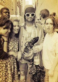 kurt cobain, nirvana, and fans image