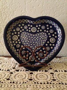 Boleslawiec Polish Pottery Heart Shaped by MimisMiniMarketplace, $22.00