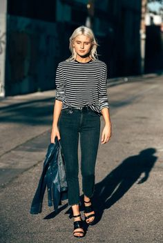 A Blogger's Edgy Take On A Casual Striped Look | Le Fashion | Bloglovin'