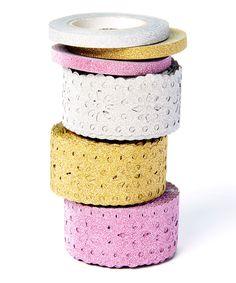 Look at this #zulilyfind! Six-Piece Glitter Tape Set by Little B #zulilyfinds