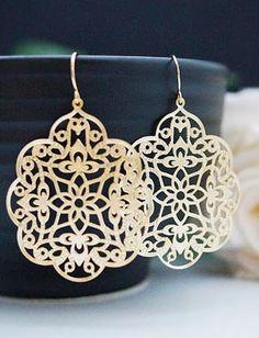 Oriental style Filigree earrings from EarringsNation