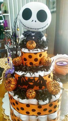 Halloween baby diaper cake