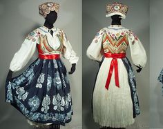 Complete Woman's Slovak Folk Costume from Cicmany
