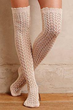 Pointelle Over-The-Knee Socks