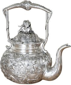 Chinese silver kettle.