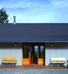 Inspirational images and photos of Exteriors & Facades, Corrugated Metal : Remodelista Vernacular Architecture, Architecture Details, Exterior Colors, Exterior Design, Green Building, Building A House, Farm Shed, Tin House, Metal Siding