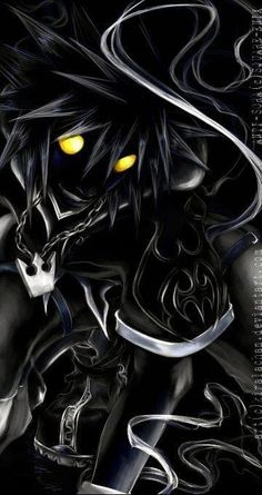 """""""...the greater your shadow becomes."""" Sora's Anti Form (Kingdom Hearts)"""