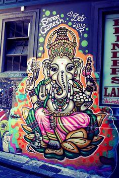 ganesh street art, i love it!