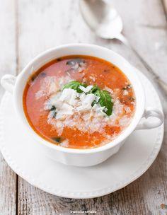 Tomato Basil Soup w/ Parmesan & Rice