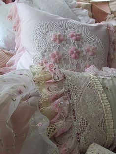 Pillows, Cushions and Bolsters by Angela Lace--gorg!
