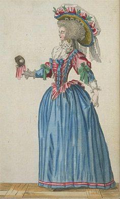 Cabinet des Modes, Janvier 1786, Heileen on Flickr. (TAG: PUBLIC DOMAIN)