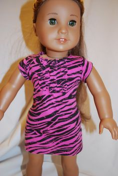 Zebra Print Ruffle Front Dress by daphsdivadesigns on Etsy, $19.00