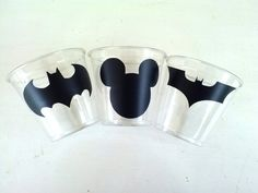 24 Batman Party Cups  9 0z by theflutterfly on Etsy, $9.00