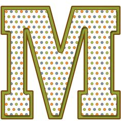 letter m - Yahoo Image Search Results Polka Dot Letters, Little Bit Of You, Minnie Png, Different Fonts, Letter Form, Alphabet And Numbers, Alphabet Letters, Letter Patterns, Party Props