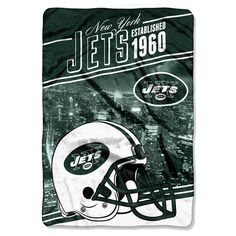 New York Jets NFL Stagger Oversized Micro Raschel (62in x 90in)