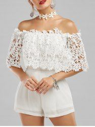 Silva Off The Shoulder Floral Lace Panel Romper Cute Dresses, Prom Dresses, Spring Dresses, Vintage Dresses, Bridesmaid Dresses, Cheap Clothes, Clothes For Women, Summer Outfits, Cute Outfits