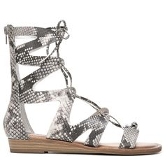 New girl kids sandals back zipper gladiator white studs casual open toe summer