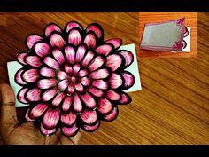 Pop Up Karte: Rose basteln mit Papier - Muttertagsgeschenke basteln -DIY - YouTube