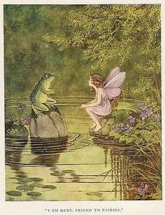 by: Ida Rentoul Outhwaite - I think this painting is from her book: The Little Green Road to Fairyland